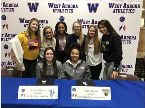 Sophia Delgado signs with St. Ambrose and Janae Holloway signs with Purdue Northwest