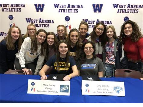 Mary Emory signs with Augustana and Gina Jenkins with Air Force!
