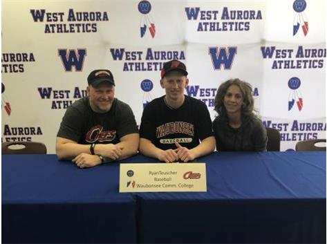 Ryan Teuscher signs with Waubonsee CC to play baseball!