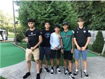 Byron, Brandon, Sergio, Jonathan, and Jakub hanging out in Michigan and playing some putt-putt! Who went lowest?