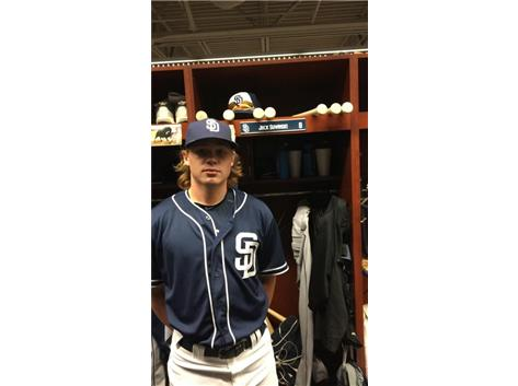 Jack Suwinski, Class of 2016, signed with the San Diego Padres on July 6, 2016.