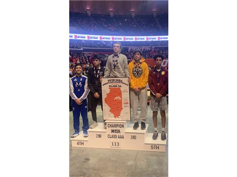 Julian Valtierrez finishes 4th at the IHSA 3A State Championship Meet!