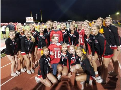 Cheer Team with Coin Toss Honorees
