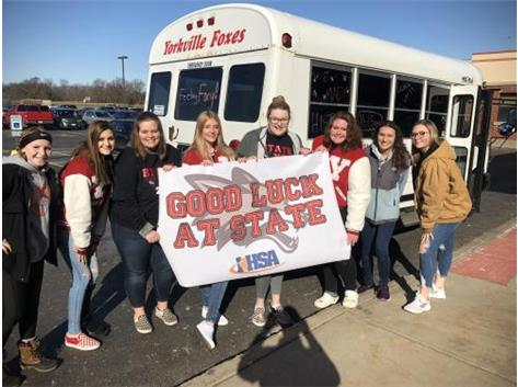 YHS Girls Bowling Team State Bound