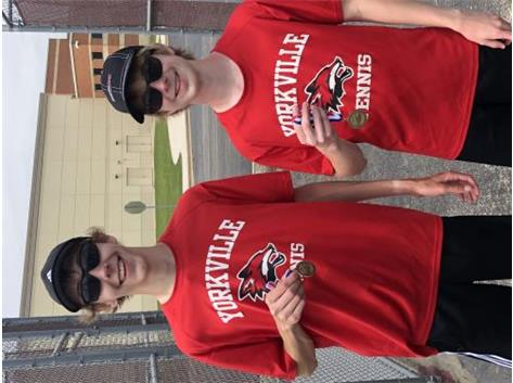 Julian Halsey and Chase Evans 4th at Conference