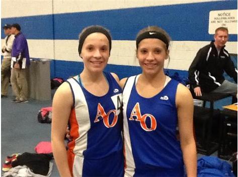 Meyer girls in 1st Indoor Meet