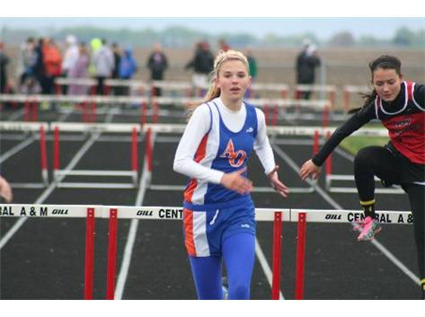 4th in the 300 hurdles