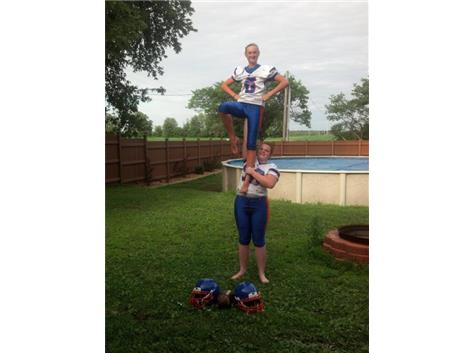 Just a little stunting fun for camp!