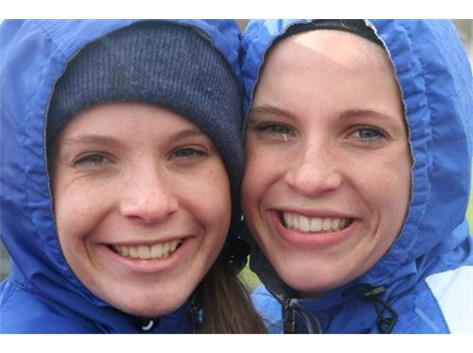 Twins bundled up at Arthur in snow