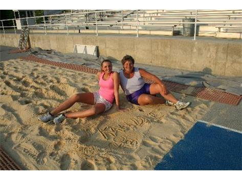 Playing in the Sand at State Track 2013