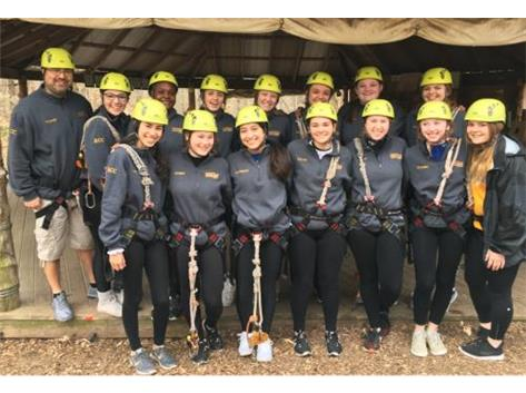 2018 Chargers ready for a zipline adventure!