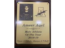 Ameer Aqel - Male Athlete of the Year