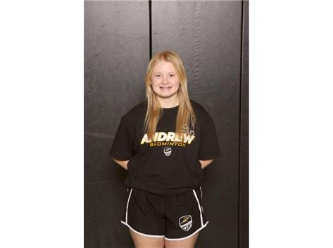 Sara Krueger - 2021 SSC Red Badminton Player of the Year