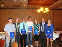 Varsity Awards Banquet - Male and Female Sportsmanship and Athlete of the Year winners