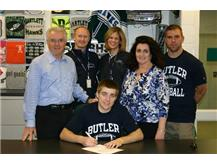 Ian signs his national letter of intent to play Football at Butler University.