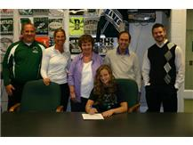 Kristin Conniff signs her letter of intent to attend University of Wisconsin Parkside to play Basketball.