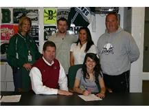 Janessa Baker signed her letter of intent to attend Cardinal Stritch University in the fall to play basketball