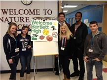 BHS student athletes visit Nature Ridge