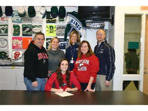 Nicole signs her national letter of intent to compete in Girls Soccer at Northern Illinois University