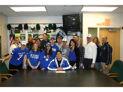 A.J. signs his national letter of intent to play Football at the Air Force Academy
