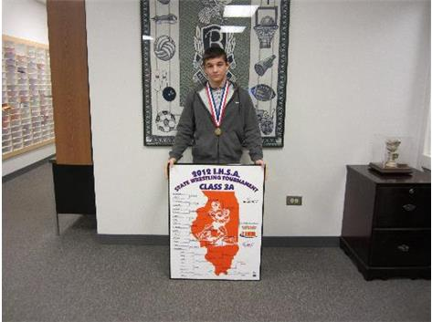 Sal Annoreno, 2012 IHSA State Wrestling Champion Class 3A at 132 pounds.  Congratulations Sal!