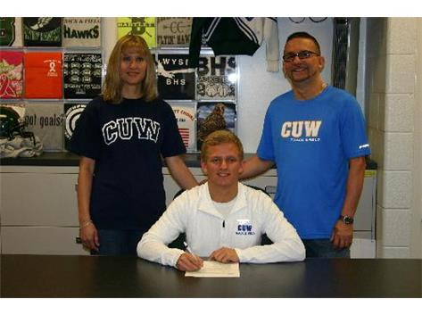 Nick Simich signing to  run Track at Concordia University in Wisconsin.