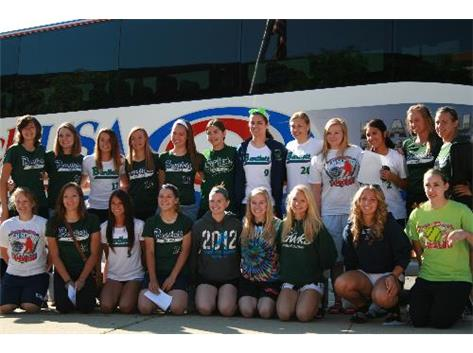 Girls Softball leaving for the State meet, Go Hawks!
