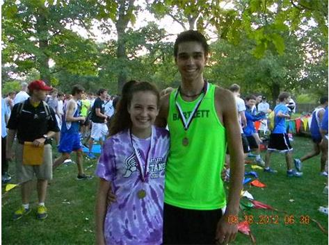Nicole and Connor win 1st place at the Elgin Invite at Lord's Park.