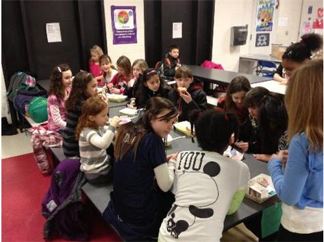 Nature Ridge students enjoy visit from BHS athletes.