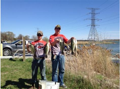 Dane Bertrand Essington and Adam Johnson qualified for the State Bass Fishing Tournament at Carlyle Lake May 9-10 by taking 2nd at the Sectional Tournament.