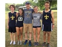 Cross Country Seniors and Coach Rhodes
