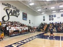 The White Sea cheers on the Volleyball team