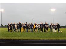 Celebrating Football Senior Night