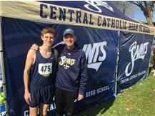 Josh and Coach at Sectionals