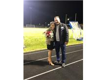 Cheerleader and Homecoming Queen, Annamarie Trauner and her father.