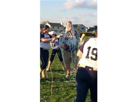 Coach Highland Celebrating New School Record