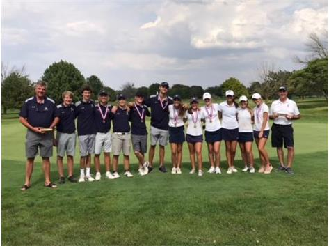 Golf Teams take First at Illini Prairie Conference Meet!