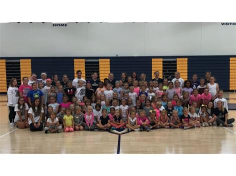 We had a full gym for Cheer Camp!