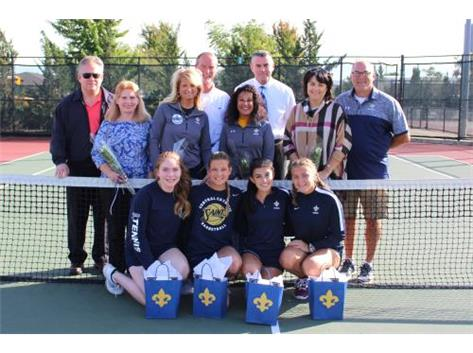 Senior Night for Girls' Tennis