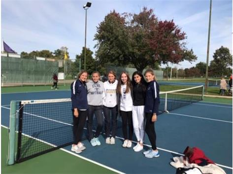Girls' Tennis places 2nd at Sectionals.