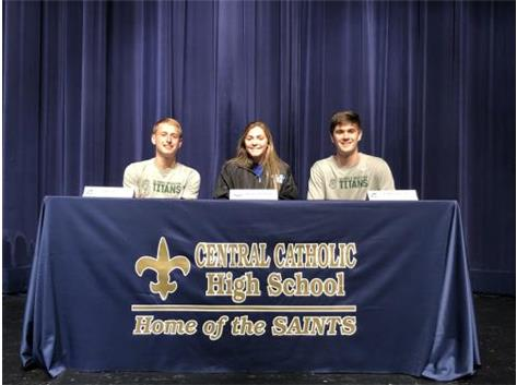 Congratulations to Luke, Charlie, and Tommy on their collegiate signing!