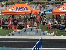 Megan Safranski finished 9th at State Meet