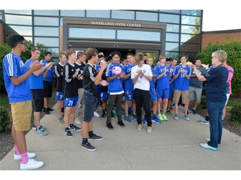 Soccer Team visits Marklund