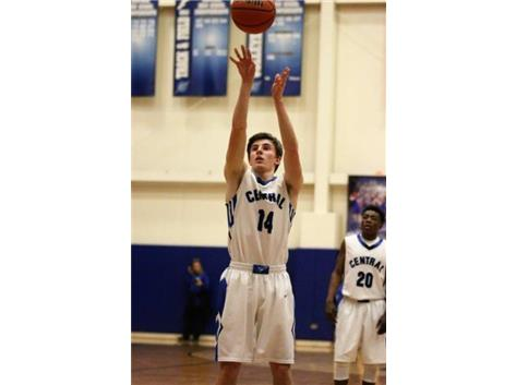 Zach sinks his free throw to become the 9th boys basketball player in school history to score 1000 points.