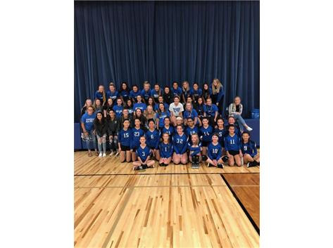 Rocket Volleyball visits our 8th grade volleyball program.