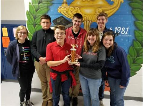 We won 2nd place in the Novice Tournament at Winnebago High School.