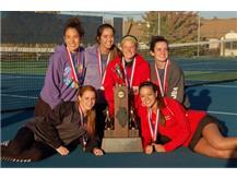 2016 Class 1A Girls Tennis State Champions: Front Row (L to R) Kate Pizza, Katie Telford 2nd Row (L to R) Pauline Neubert, Lauren Immink, Caroline Arnold, Trinity Marshall,
