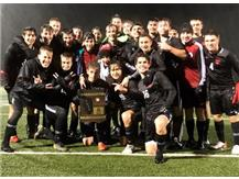In record rainfall for October 26, your 2019 Boys Soccer Regional Champions!