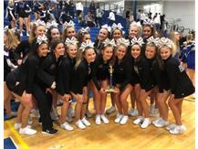 Varsity Cheer Squad captures 2nd Place at Carl Sandburg Invite 12.08.2019.