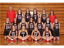 2019 - 2020 Girls Varsity Basketball Team